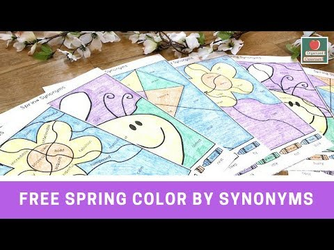 Spring Synonyms Worksheets!