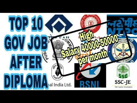 Top 10 best gov. job after diploma 2018   sarkari Naukri   SSC   RRB   DRDO   BSNL   ISRO