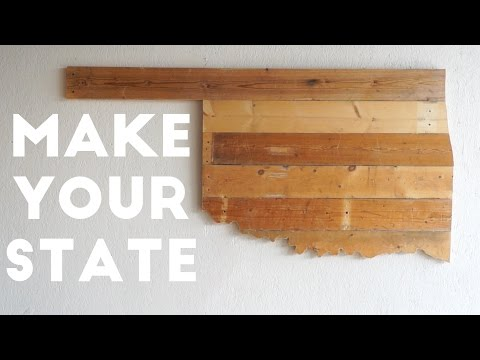 MAKE YOUR STATE From Reclaimed Wood | Modern Builds | EP. 12
