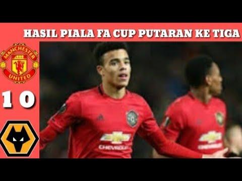 Hasil Piala FA Tadi Malam - Hasil Manchester United vs Wolves Dan Carlisle vs Cardiff Piala FA 2020