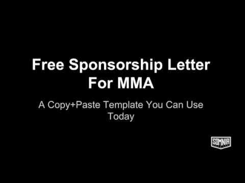 Sponsorship Letter For MMA