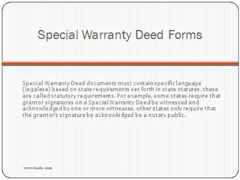 Real estate deed form