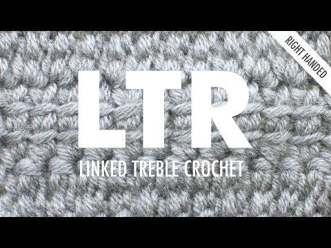 Linked Treble Crochet (LTR):: Crochet Technique :: Right Handed
