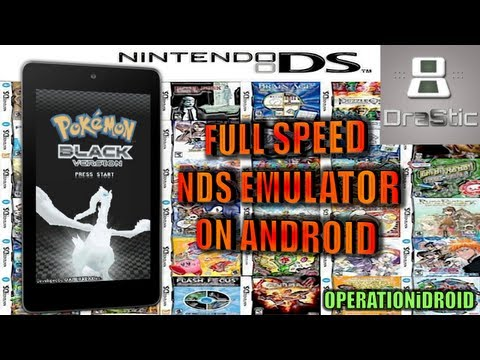 DraStic DS: How To Get Nintendo DS on Android Device (NO ROOT) (FULL SPEED) 100%