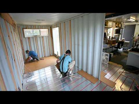 shipping container home construction