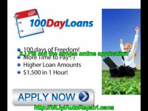 auto repair loans for bad credit