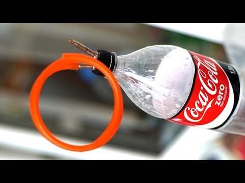 Fast DIY tubeless MTB fat bike tire inflator from coke bottle