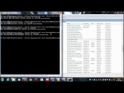 Start | Stop Oracle 11g (64-bit) Services in Windows 7 (64-bit)