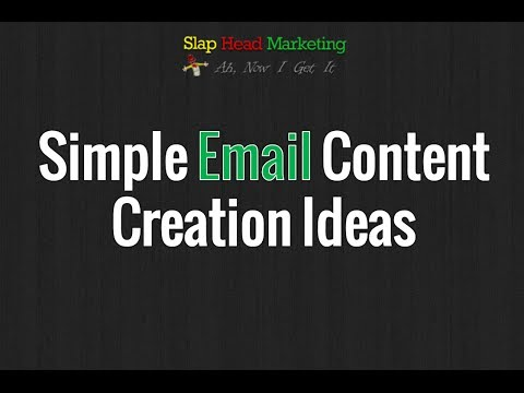 A Simple Way To Come Up With Ideas For Creating Email Content