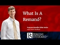 What Is A Remand