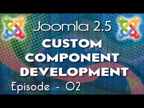 Joomla 2.5 Custom  Component Development - Ep 2 - Creating Backend Component Menu