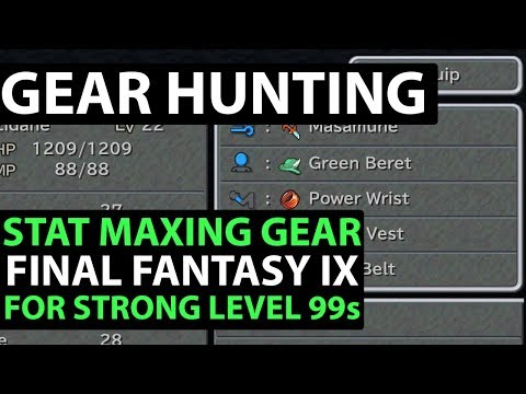 Final Fantasy 9 PS4 Walkthrough - EXCALIBUR 2 PERFECT GAME - Stat Maxing Gear!