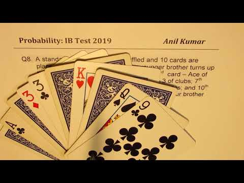 Probability with Standard Deck of Cards Multiple Variations