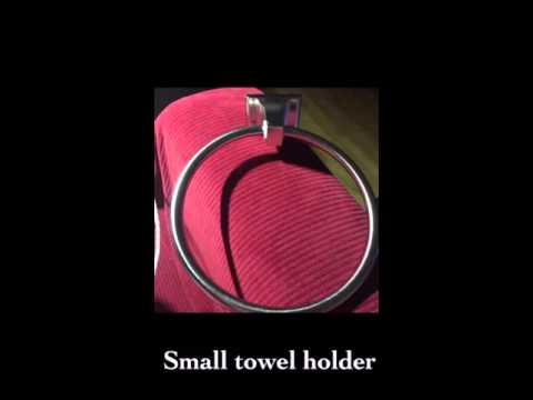 Ohuhu® 4 pcs Stainless Steel Bathroom Accessory Set
