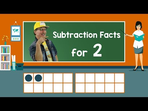 Practice Our Subtraction Facts for 2 | Subtraction Song | Math Song for Kids | Jack Hartmann