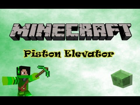 How To Make A Piston Elevator In Minecraft - 1.5.2 -