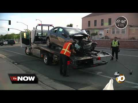 Search for woman who hit parked SUV, critically injuring passenger