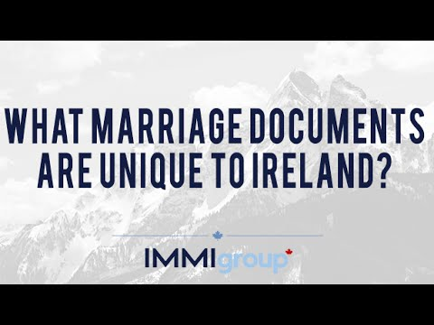 What marriage documents are unique to Ireland?