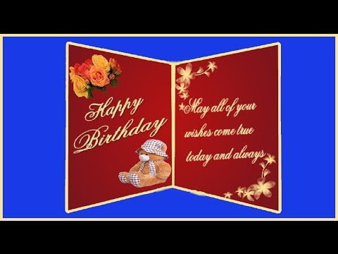 Create a two fold Birthday Greeting Card in Photoshop ( with ESubs )