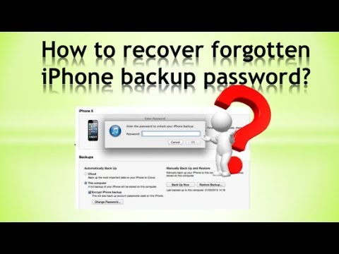 Unlock/recover iPhone backup password