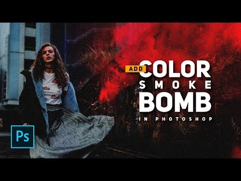 How to Add Color Smoke Bomb in Photoshop - Urban street photography - Photoshop Tutorials