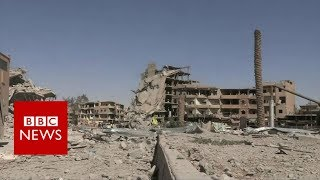 Inside Raqqa after Islamic State group was pushed out - BBC News