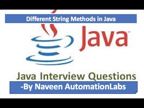 String Manipulation in Java - Interview questions - Part -7