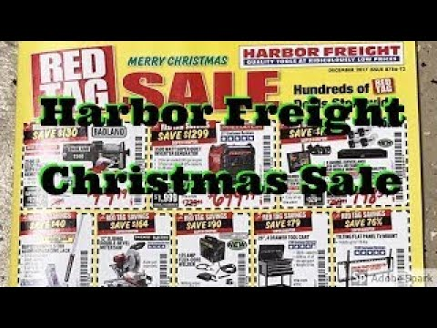 Harbor freight tools red tag sale catalog December 2017 Christmas edition
