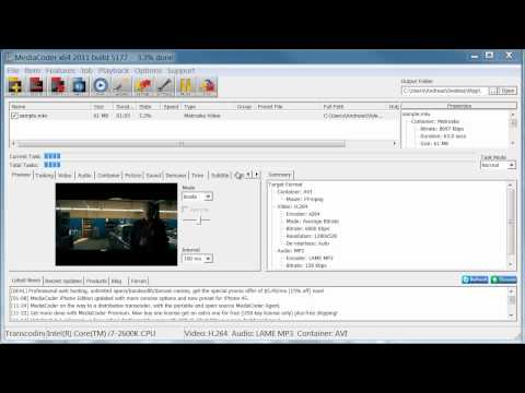 How to Convert MKV to AVI with MediaCoder