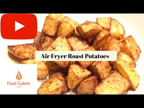 Air Fryer Roast Potatoes , Quick Roasties, Cheap Way Too Make Roast Potatoes, Food Galore