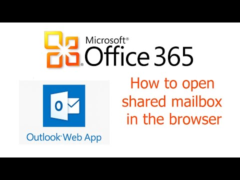 Office 365, Outlook Web App, How to open shared mailbox in the browser