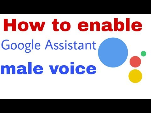 How to enable Google Assistant male voice