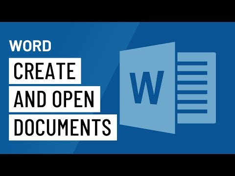 Word 2016: Creating and Opening Documents