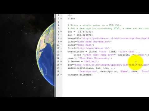 Create Google map file using matlab