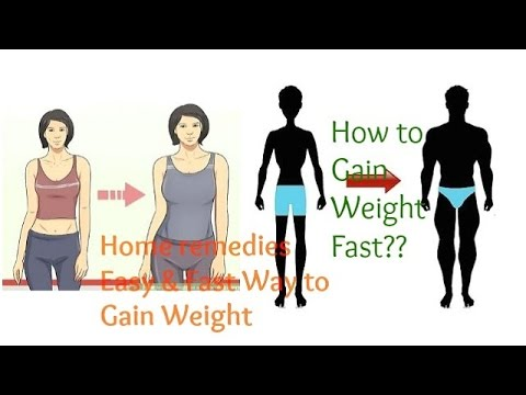 How To Gain Weight  Fast In 1 Week
