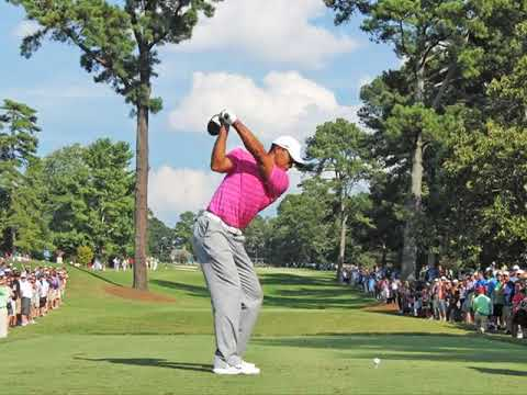 Tiger Woods Hits Driver Slow Motion