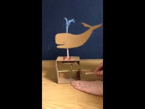 Cardboard Automaton: Up And Spin Example