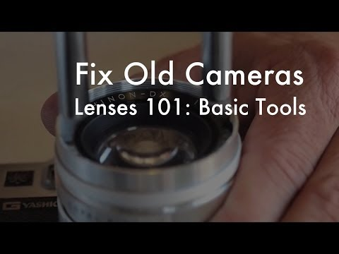 Fix Old Cameras: Basic Lens Repair Tools
