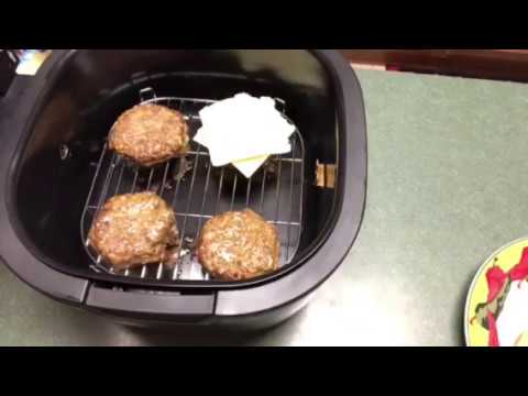 Air Fryer Frozen Hamburgers (12QT Cooks Essentials)