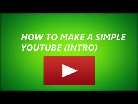 How To Make A Simple Youtube Intro In Windows Live Movie Maker