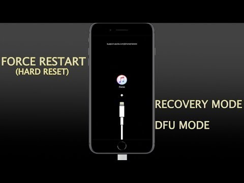 iPhone 8/8 Plus and iPhone X- How to Force Restart(hard reset) enter/exit recovery and DFU mode