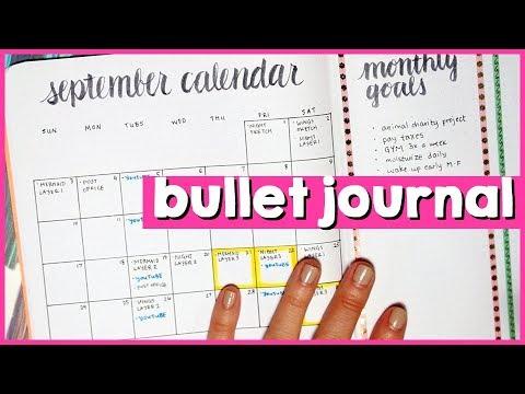 Plan with me: September 2017 // ARTIST BULLET JOURNAL