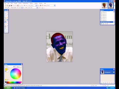 Paint.net Tuts / Lesson 4. How to change the hair and skin color