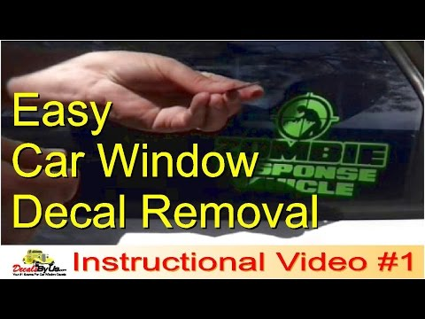 How To Remove Car Window Decals