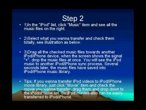 How to transfer music from iPod to iPhone 4S