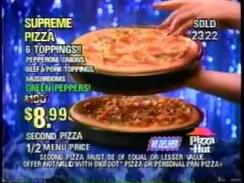Pizza Hut - Home Eating Network Commercial from 1994