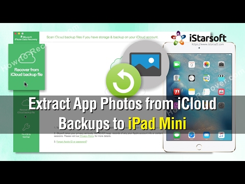 How to Extract App Photos from iCloud Backups to iPad Mini