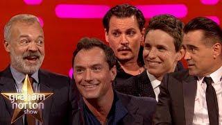 Johnny Depp, Eddie Redmayne, Jude Law & Colin Farrell from Fantastic Beasts 2 on Graham Norton