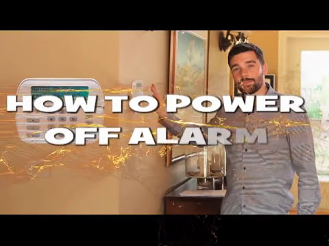 How to completely power off security alarm system