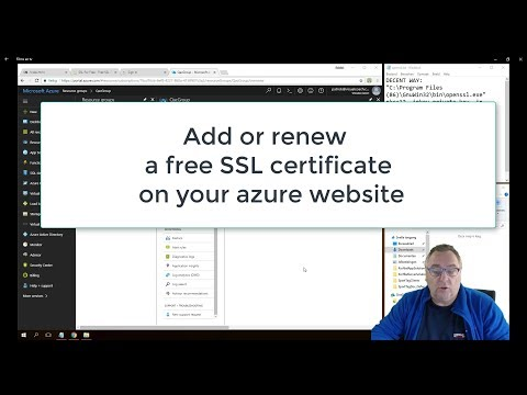 Add and renew SSL certificates for your azure website